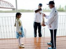 Фестиваль воды в городе Ширван завершился фейерверком