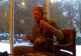 Американский музыкант Габриэль Марин — импровизатор на азербайджанских национальных инструментах