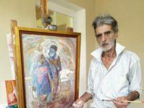 В Азербайджане художник создает картины с помощью огня и сажи