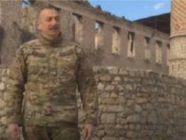 Видео поездки президента Азербайджана в Нагорный Карабах