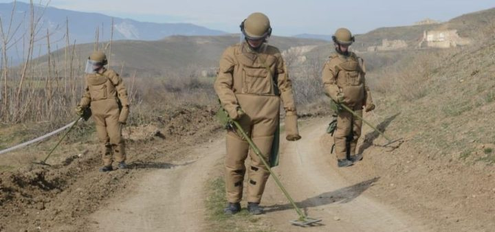 В Агдамском районе Азербайджана разминировано около 3 тыс. гектаров
