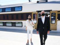 Ильхам Алиев и Мехрибан Алиева приняли участие в церемонии открытия Габалинского ж/д вокзала-видео